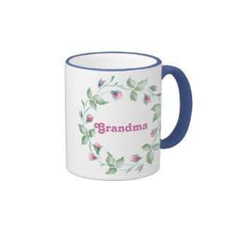 Abuela floral 3 tazas