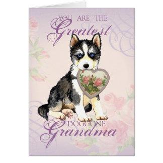 Abuela fornida del corazón tarjeta de felicitación