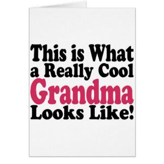 Abuela fresca felicitación
