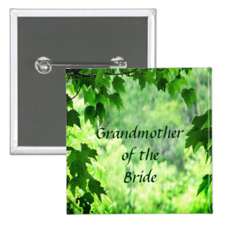 Abuela frondosa del boda del Pin de la novia Pin Cuadrada 5 Cm