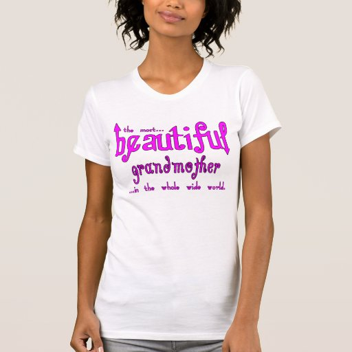 Abuela hermosa del navidad de las fiestas de cumpl camisetas