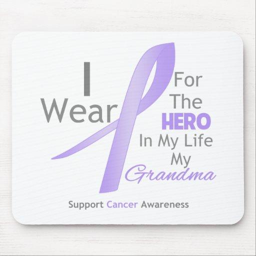Abuela - héroe en mi vida - general Cancer Alfombrilla De Ratón