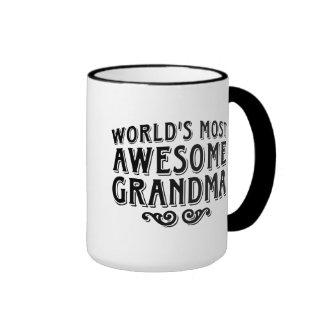Abuela impresionante taza de dos colores