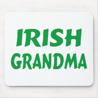 Abuela irlandesa mouse pads