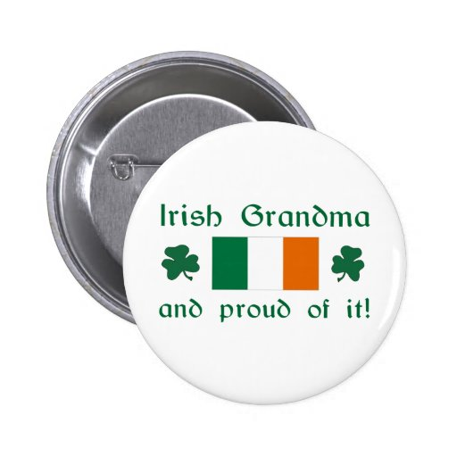 Abuela irlandesa orgullosa pins