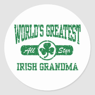 Abuela irlandesa etiqueta redonda