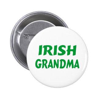 Abuela irlandesa pin redondo de 2 pulgadas