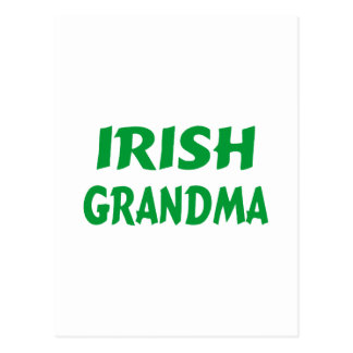 Abuela irlandesa tarjeta postal