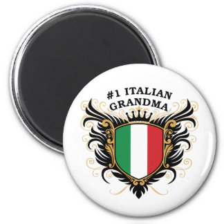 Abuela italiana del número uno imanes de nevera
