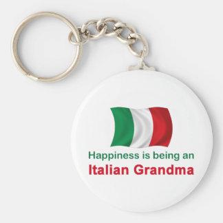Abuela italiana feliz llavero redondo tipo pin