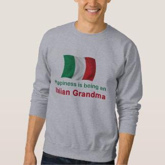 Abuela italiana feliz sudadera