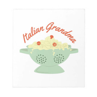 Abuela italiana libreta para notas