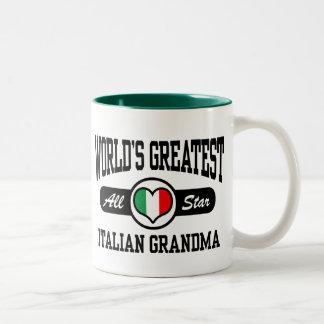 Abuela italiana tazas de café