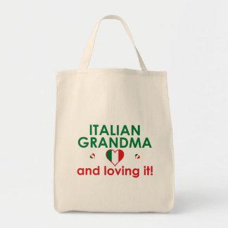¡Abuela italiana y amor de él! Bolsa Tela Para La Compra