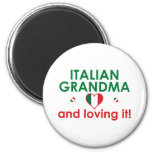 ¡Abuela italiana y amor de él! Imán Para Frigorifico