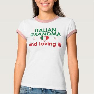 ¡Abuela italiana y amor de él! Playera