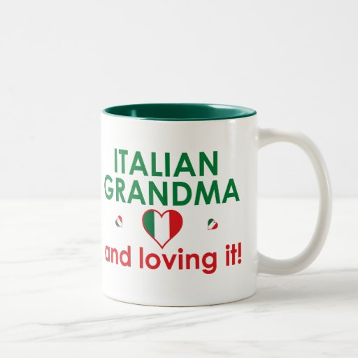 ¡Abuela italiana y amor de él! Tazas De Café