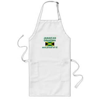 Abuela jamaicana orgullosa delantal largo
