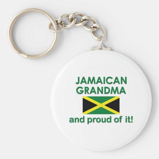 Abuela jamaicana orgullosa llavero