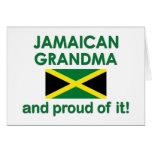 Abuela jamaicana orgullosa tarjetas