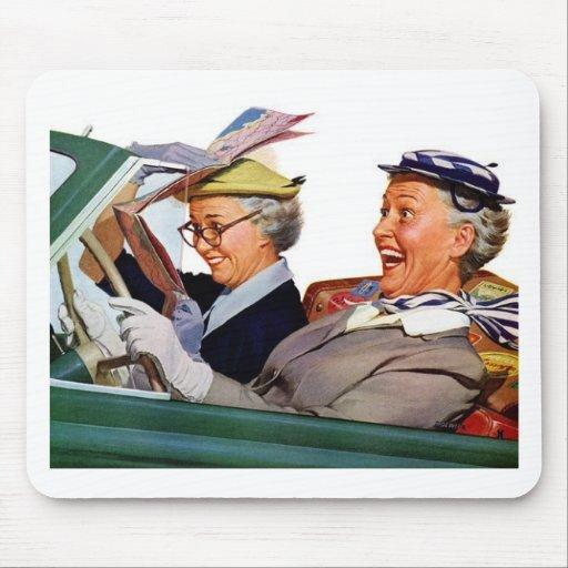 Abuela la reina de la velocidad mousepads