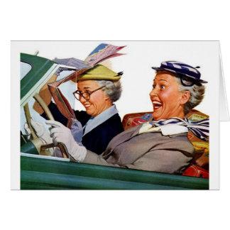 Abuela la reina de la velocidad tarjeta de felicitación