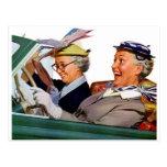 Abuela la reina de la velocidad tarjeta postal