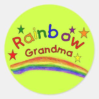 """Abuela lesbiana gay del arco iris "" Etiquetas Redondas"