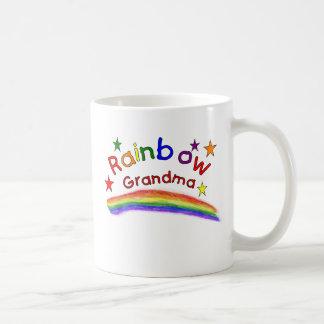 Abuela lesbiana gay del arco iris taza de café