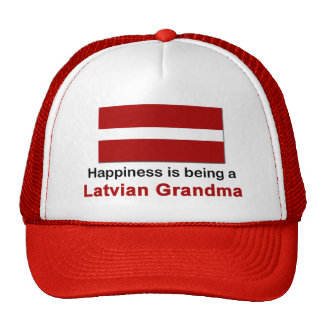 Abuela letona feliz gorro