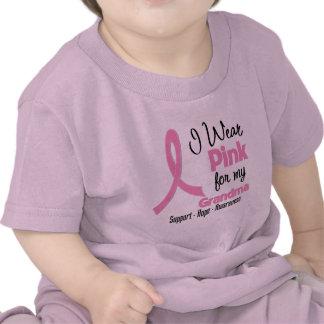 Abuela - llevo rosa - cáncer de pecho camisetas