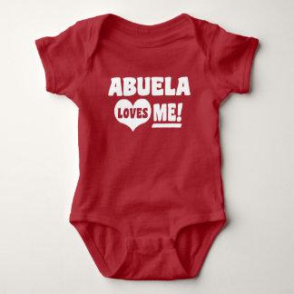 Abuela Loves Me Baby Bodysuit