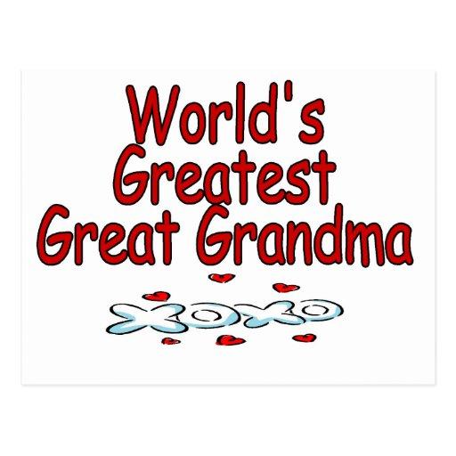 Abuela más grande del mundo la gran tarjeta postal