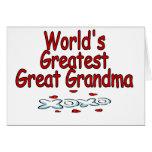 Abuela más grande del mundo la gran tarjetas
