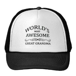Abuela más impresionante del mundo la gran gorros bordados