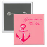 Abuela náutica rosada a ser Pin del ancla