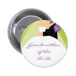 Abuela nupcial del fiesta del botón/Pin de la novi