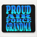 Abuela orgullosa de la fuerza aérea alfombrilla de ratón