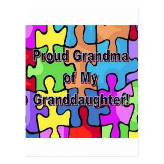 ¡Abuela orgullosa de mi nieta! Postal