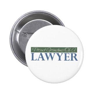 Abuela orgullosa de un abogado (verde) pin redondo 5 cm