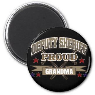 Abuela orgullosa del ayudante del sheriff imán para frigorífico
