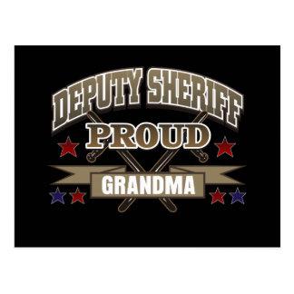 Abuela orgullosa del ayudante del sheriff postales