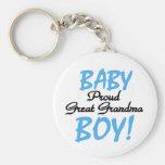 Abuela orgullosa del bebé gran llaveros