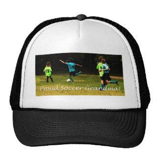 Abuela orgullosa del fútbol gorros bordados