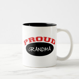 Abuela orgullosa (negro y rojo) tazas de café