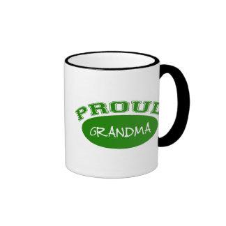 Abuela orgullosa (verde) taza de café