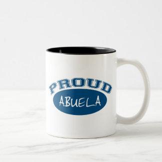 Abuela orgulloso (azul) taza