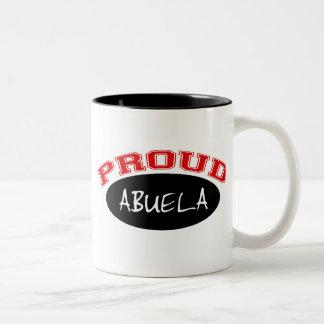 Abuela orgulloso (negro y rojo) tazas de café