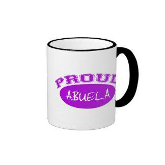 Abuela orgulloso (púrpura) taza