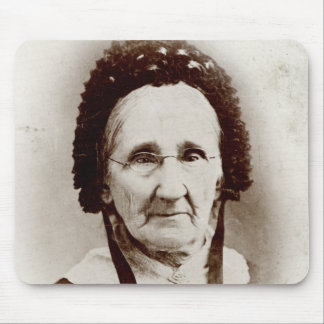 Abuela pasada de moda del retrato tapete de raton
